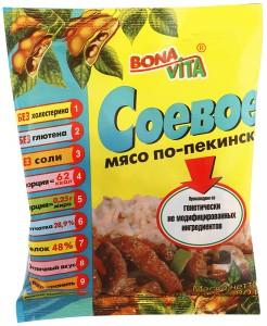 Соевое Мясо по-пекински 80г Bona Vita