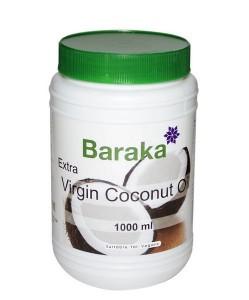 Масло кокосовое нерафинированное холодный отжим пл/б 1л Baraka