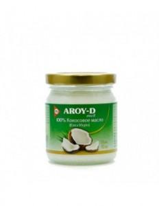 Масло кокосовое нерафинированное холодный отжим ст/б 180 мл Aroy-D