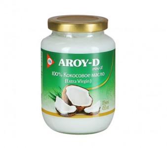 Масло кокосовое нерафинированное холодный отжим ст/б 450 мл Aroy-D