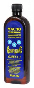 Масло льняное Вологодское пл/б 500мл Компас Здоровья