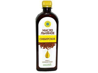 Масло льняное Сибирское 500мл Компас Здоровья
