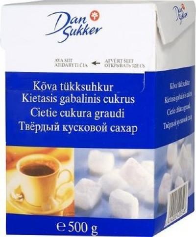 Сахар тростниковый белый кусковой 500г DanSukker