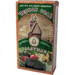 Соль пищевая черная крупная 100г ООО Соло-Ко