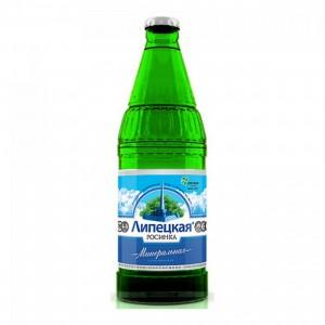 Вода минеральная природная лечебно-столовая Липецкая газ стекло 500мл Росинка