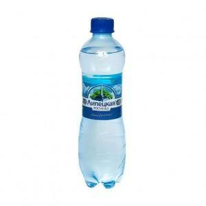 Вода минеральная природная питьевая столовая Липецкая лайт газ ПЭТ 500мл Росинка