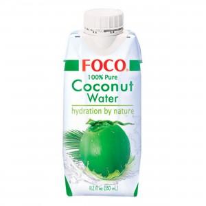 Кокосовая вода 100% 0.33л FOCO