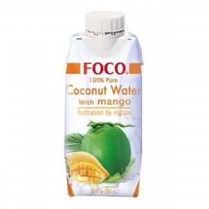Кокосовая вода с манго тетра пак 330мл FOCO