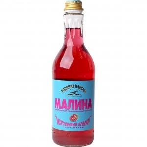 Напиток газированный Малина стекло 0.5л Родники кавказа