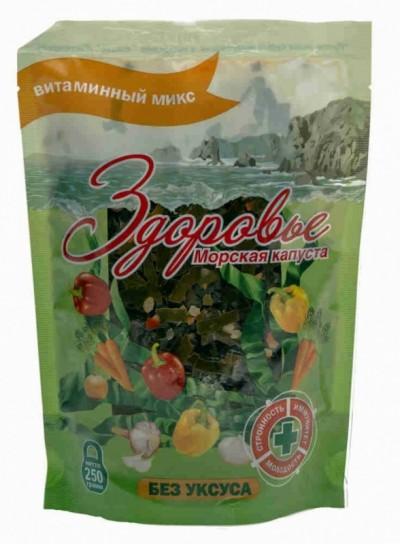 Салат Здоровье из капусты морской Ламинария микс 250г