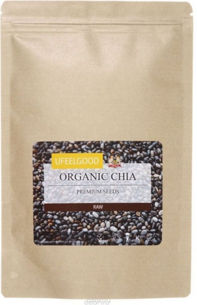 Семена Чиа сырые raw 250г Ufeelgood