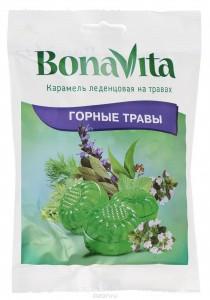 Карамель леденцовая на травах Горные травы 60г Bona Vita