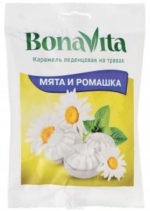 Карамель леденцовая на травах Мята и ромашка 60г Bona Vita