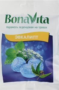 Карамель леденцовая на травах Эвкалипт 60г Bona Vita