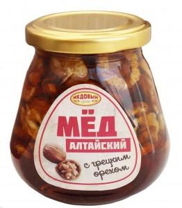 Мед Алтайский с грецким орехом 320г