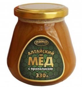 Мед Алтайский с прополисом 330г