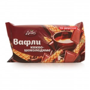 Вафли Какао-шоколадные на фруктозе 90г ДиYes