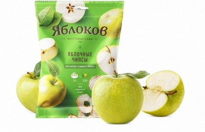 Чипсы яблочные из 350г кисло-сладких яблок 25г Яблоков