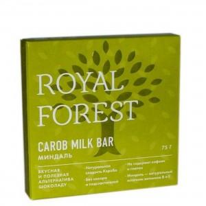 Шоколад из кероба с миндалем 75г Royal Forest