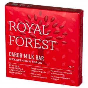Шоколад из обжареного кероба 75г Royal Forest