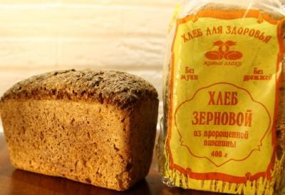 Хлеб зерновой из пророщенного зерна 400г Живые злаки