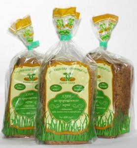 Хлеб пшеничный из пророщенного зерна 400г Живые злаки
