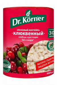 Хлебцы злаковый коктейль Клюква 100г DR.KORNER