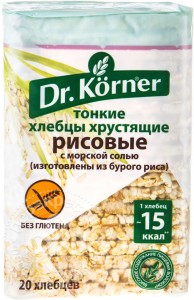 Хлебцы рисовые с морской солью 100г DR.KORNER
