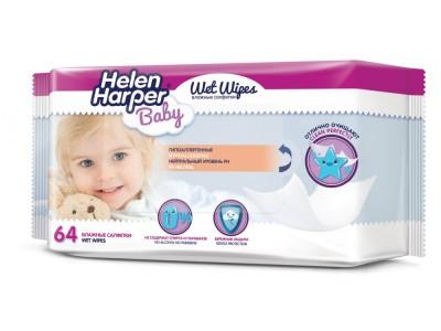 Салфетки детские влажные 64шт Helen Harper