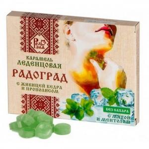 Леденцы живичные мята-ментол без сахара 10шт Радоград