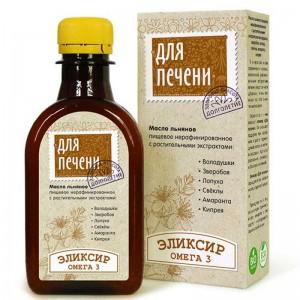 Масло льняное Для печени с растительными экстрактами 200мл Компас Здоровья