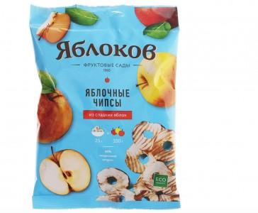 Чипсы яблочные из сладких яблок 25г Яблоков