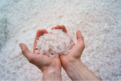 Соль Болотова розовая крымская крупная 0.5 кг Саки