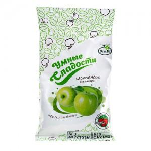Леденцы без сахара Зеленое яблоко 55г Умные сладости