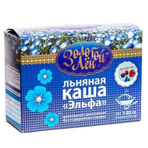 Каша Льняная 7 вкусов 140г Эльфа Золотой лен