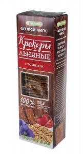 Крекер льняной с томатом 100г Флэксичипс