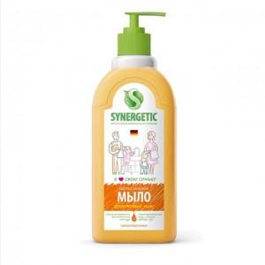 Мыло жидкое для мытья рук Фруктовый микс дозатор 500мл Synergetic