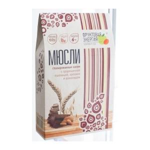 Мюсли глазированные соком из пророщенной пшеницы с орехами и шоколадом 310г/7 Белое дерево
