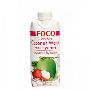 Кокосовая вода с соком личи тетра пак 330мл FOCO