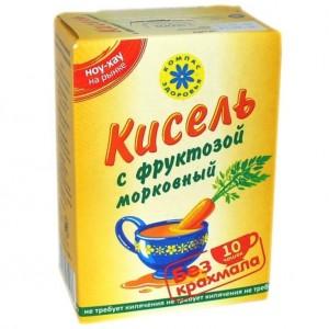 Кисель Морковный на фруктозе150г Компас здоровья