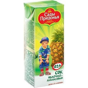 Сок яблоко/ананас 200мл Сады Придонья