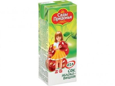 Сок яблоко/вишня осветленный 200мл Сады Придонья