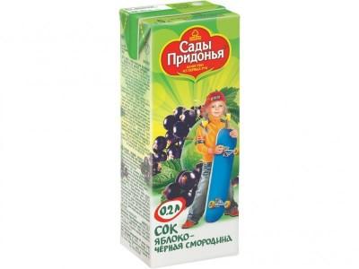 Сок яблоко/черная смородина осветленный 200мл Сады Придонья