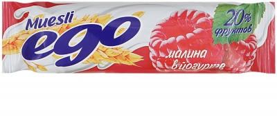 Батончик мюсли EGO Малиновое желе в йогурте 25г Формула жизни