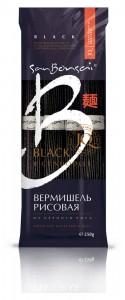 Вермишель рисовая из черного риса 250г Сан Бонсай