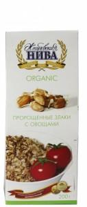 Злаки пророщенные без сахара с овощами 200г Жигулевская Нива
