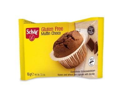 Маффин(кекс) без глютена шоколадный с кусочками шоколада 65г Schar