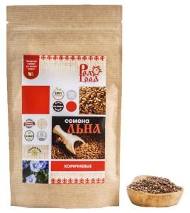 Семена льна коричневые 200г Радоград