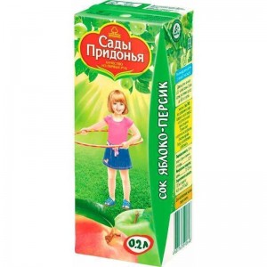 Сок яблоко/персик с мякотью 200мл Сады Придонья