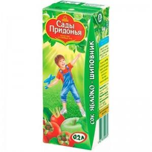 Сок яблоко/шиповник 200мл Сады Придонья